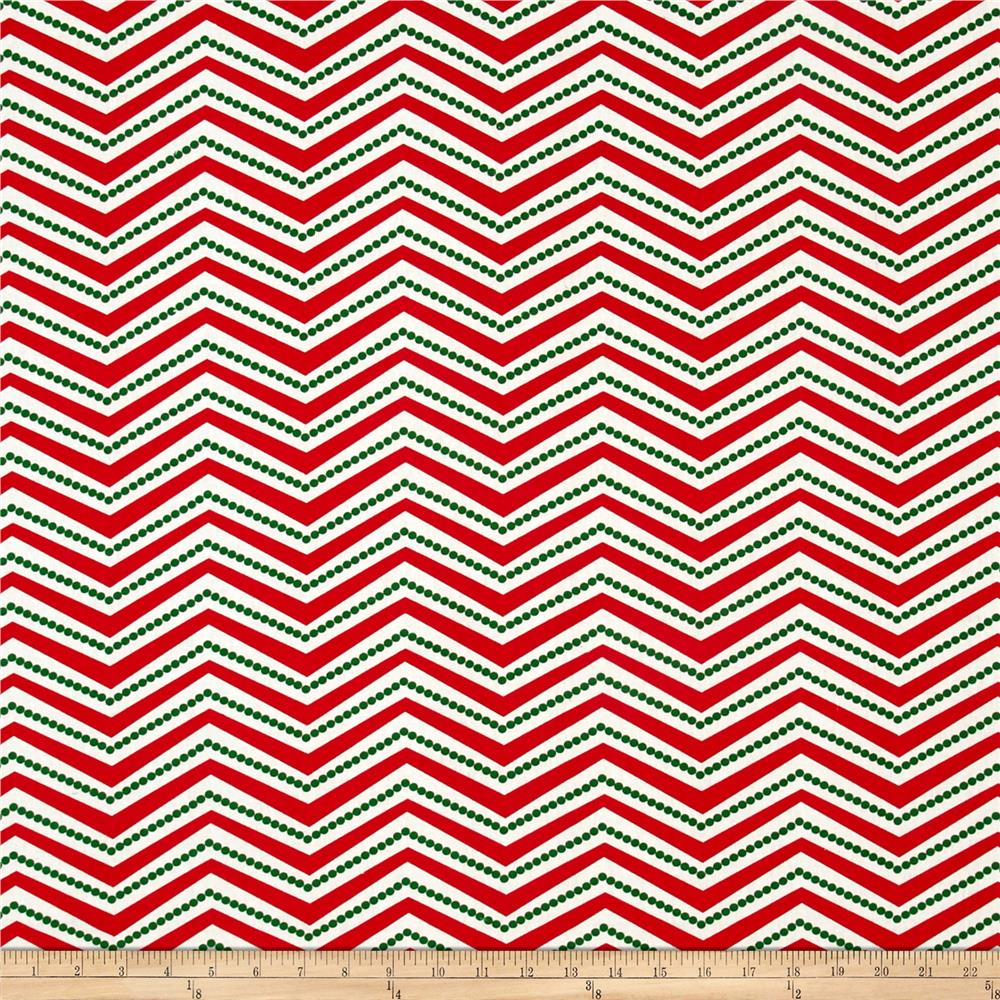 Chevron Dot Red/Green/White