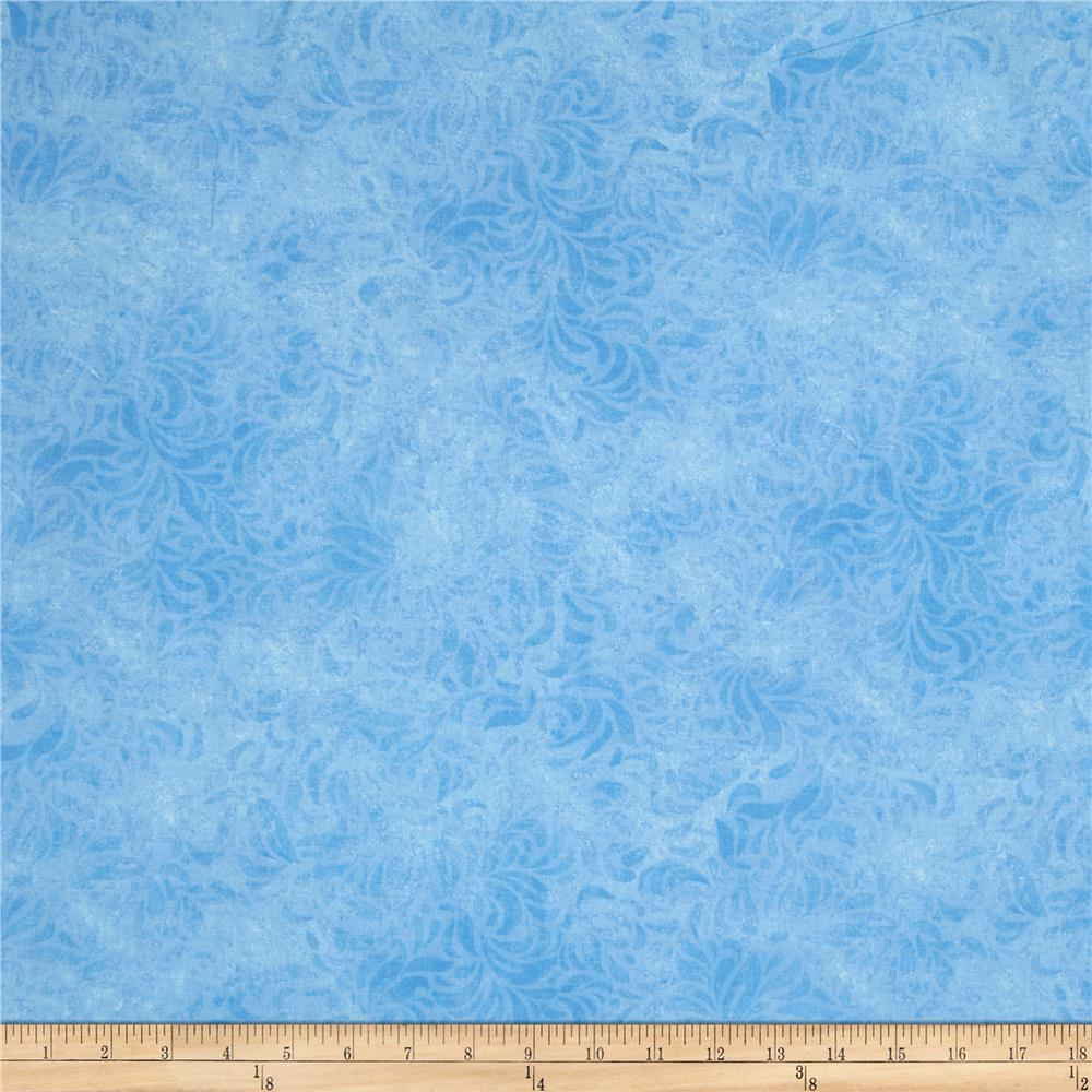 110'' Wide Quilt Back Bella Suede Light Blue Fabric