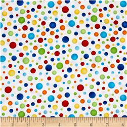 Jungle Camp Textured Dots White