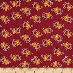 Charleston 1850 Medium Floral Red