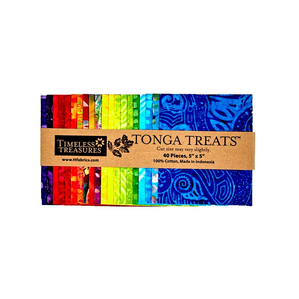 "Timeless Treasures Batik Jelly Bean  5"" Squares"