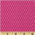 Loralie Church Ladies Diamond Grid Hot Pink