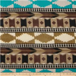 Fleece Print Southwest2 Brown