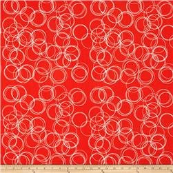 Riley Blake Four Corner Circle Coral