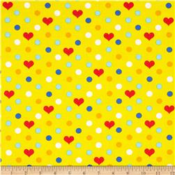 Dots & Hearts Yellow
