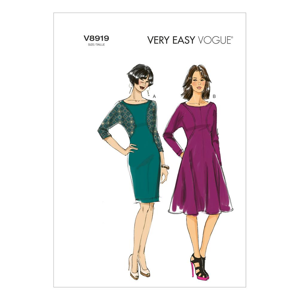 Vogue Misses' Dress Pattern V8919 Size B50
