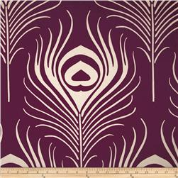 Duralee Peacock Feathers Purple Fabric