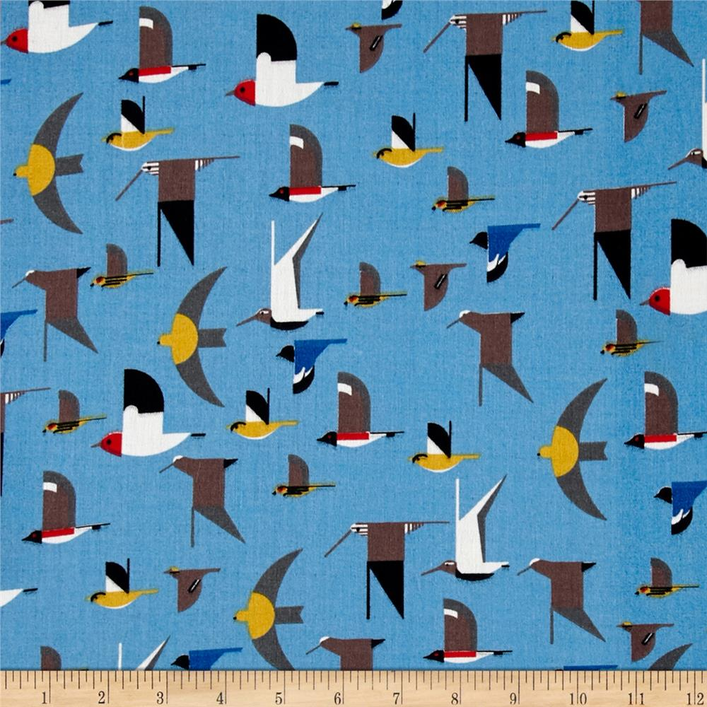 Birch Organic Maritime Double Gauze Maritime Birds Multi