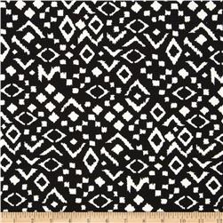 Paola Pique Knit Geo Print Midnight Black/White
