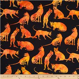 Island Batik Great Balls of Fire Black/Orange Leopard