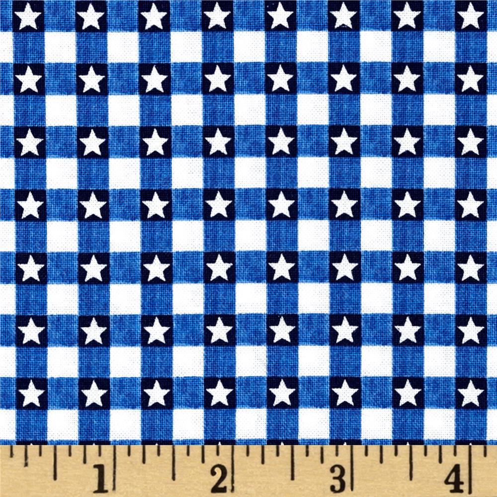 American Anthem Gingham Star Blue