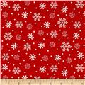Reindeer Magic Snowflake Red