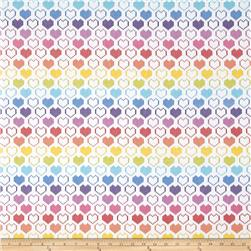 Timeless Treasures Knit Hearts Multi