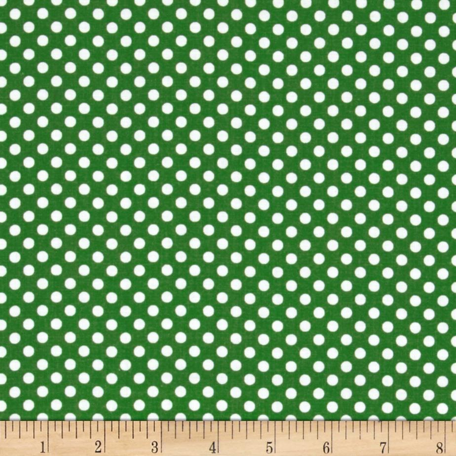 Spot On II Mini Dots Dark Green/White - Discount Designer ...