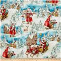 Michael Miller Holiday Old World Santa Multi