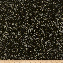 Asian Fanfare Mini Dot Gold/Black Fabric