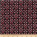 Diamonds & Squares Rayon Crepon Print Tiles /Mauve