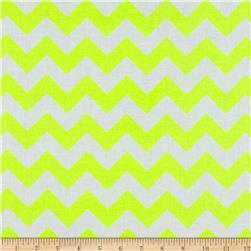 Riley Blake Laminate Chevron Neon Yellow Fabric
