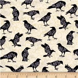 Spellbound Bird Silhouettes Cream