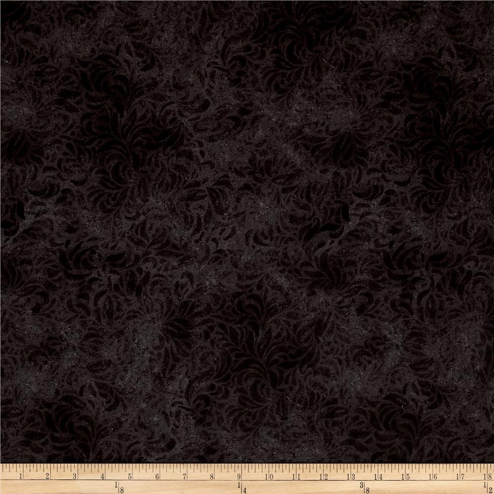 "110"" Wide Quilt Back Bella Suede Charcoal"