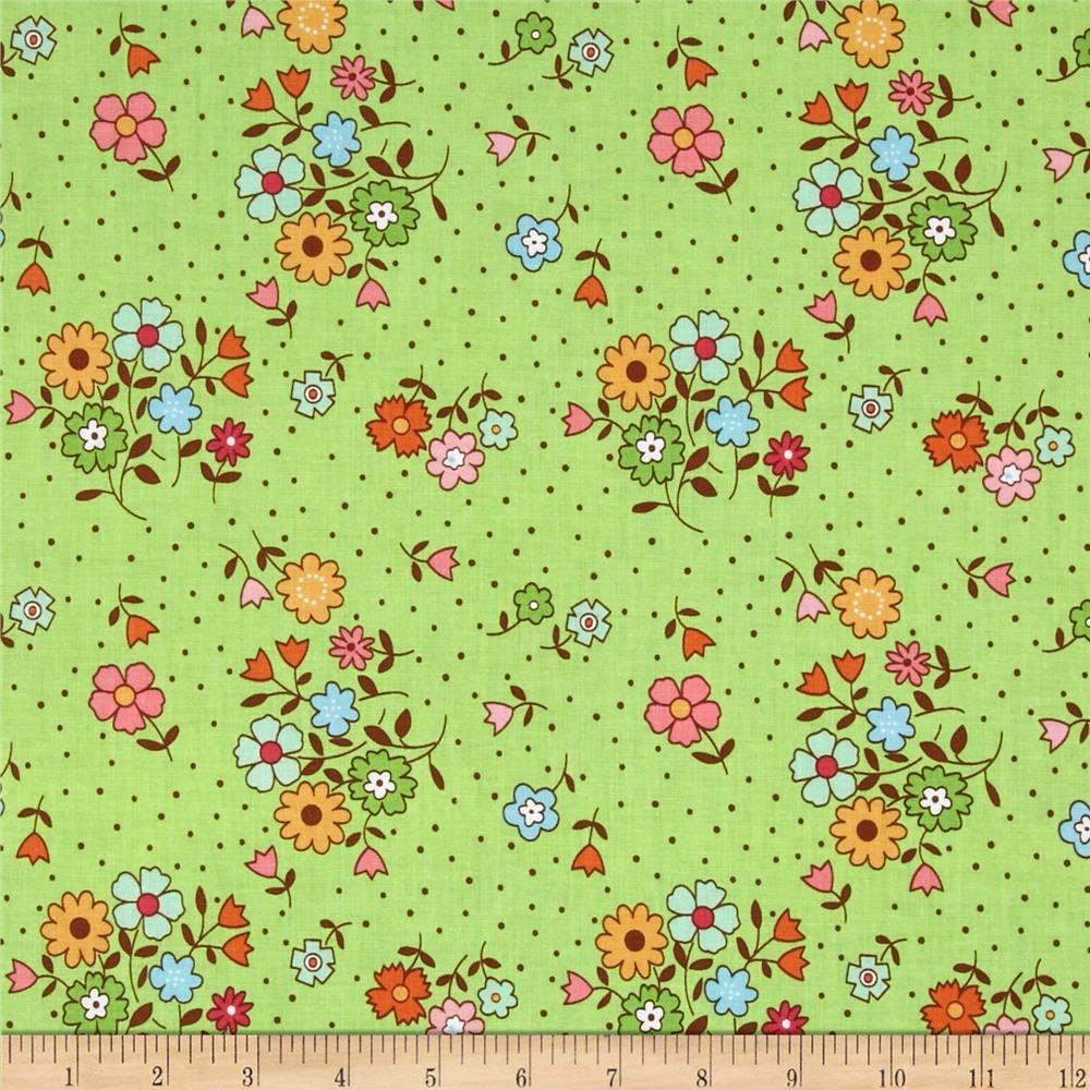 Riley Blake Flower Patch Bouquet Green
