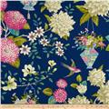 Waverly Williamsburg Lightfoot Garden Linen Sapphire
