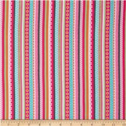 Girly-o-Saurus Stripe Pink