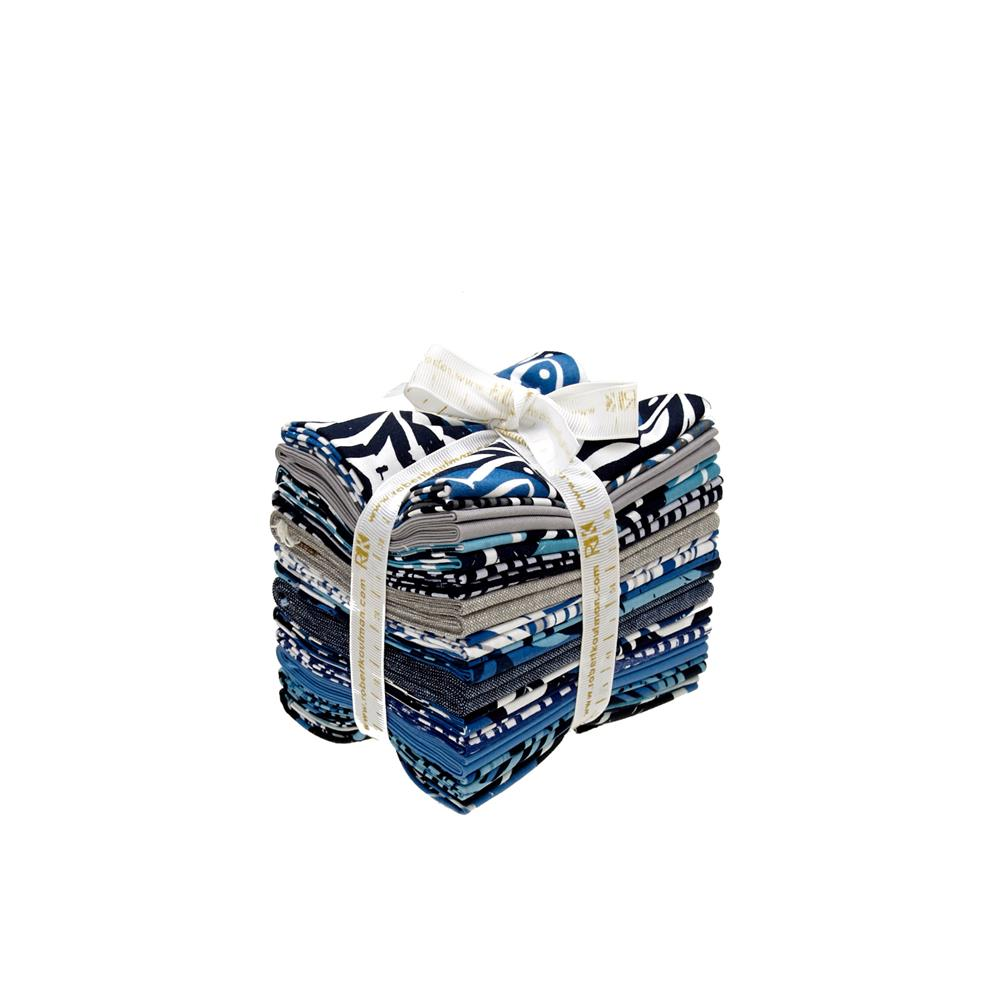 Kaufman Marks Fat Quarter Bundle Indigo