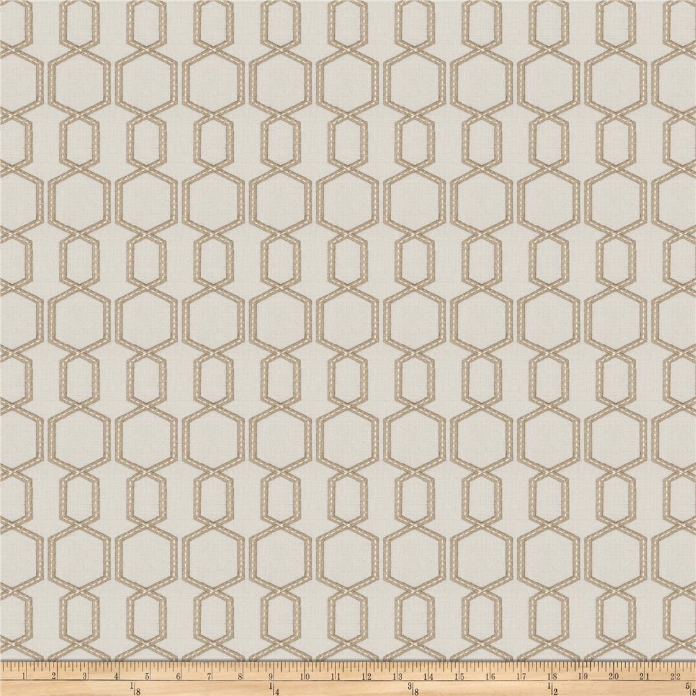 Fabricut Burbot Embroidered Faux Linen Marble