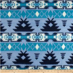 Fleece Print Tempe Indigo