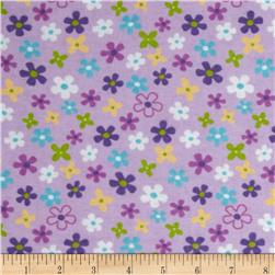 Newcastle Flannel Cherish Floral Lilac