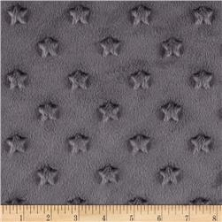 Minky Star Dot Charcoal