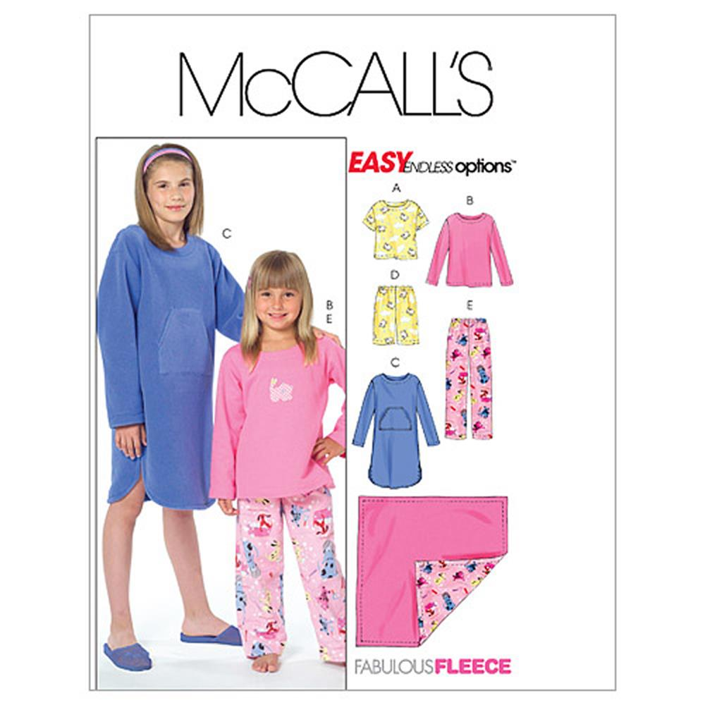 McCall's Children's/Girls' Tops, Gown, Short, Pants and Blanket