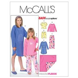 McCall's Children's/Girls' Tops, Gown, Short, Pants and Blanket Pattern M4963 Size CX0