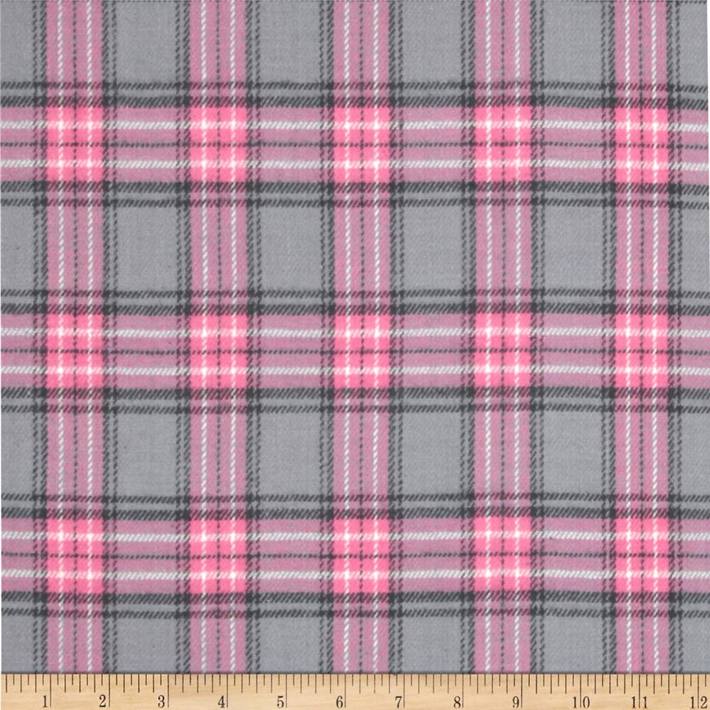 Windstar Yarn Dyed Flannel Plaid Grey/Pink