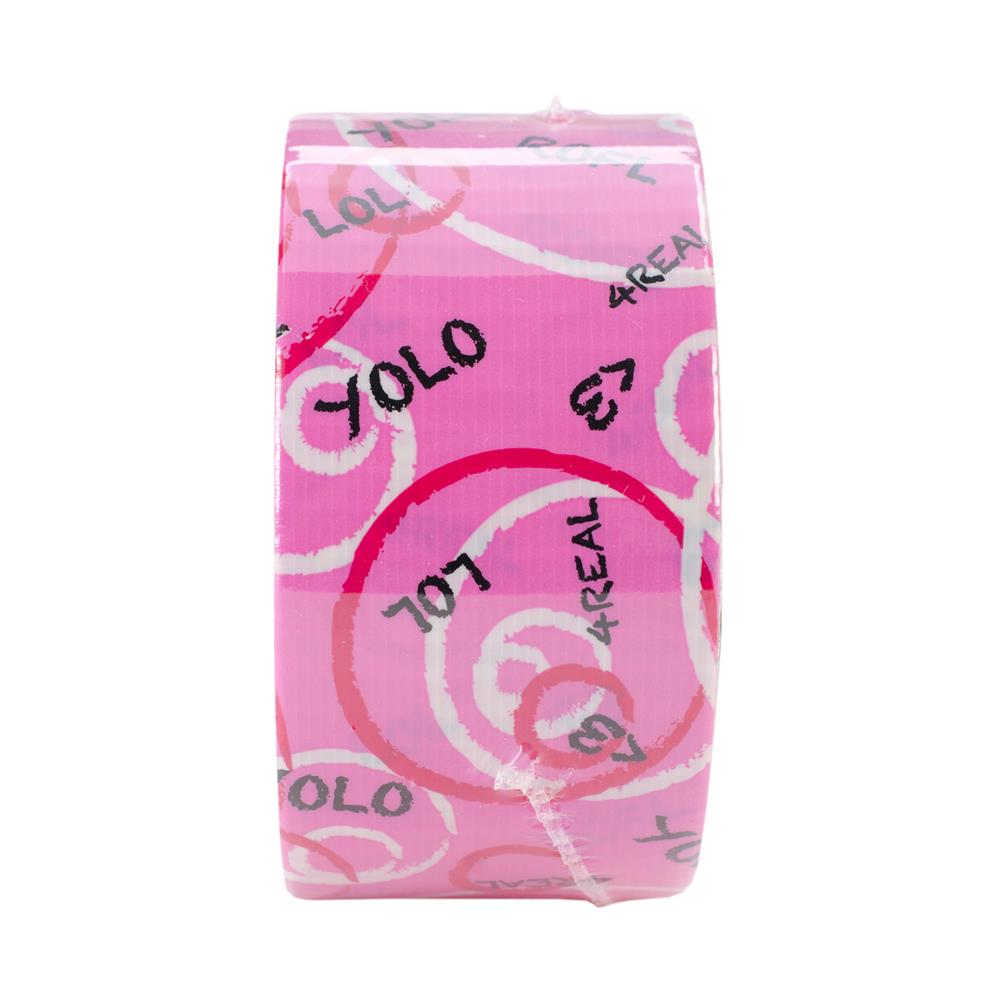 "Patterned Duck Tape 1.88"" x 10yd-Pink Text"