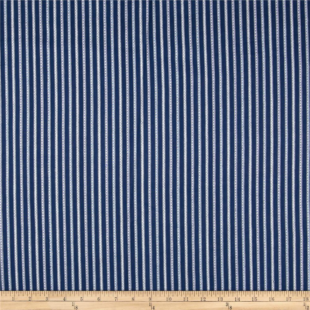 Home Accents Calcutta Jacquard Stripe Navy