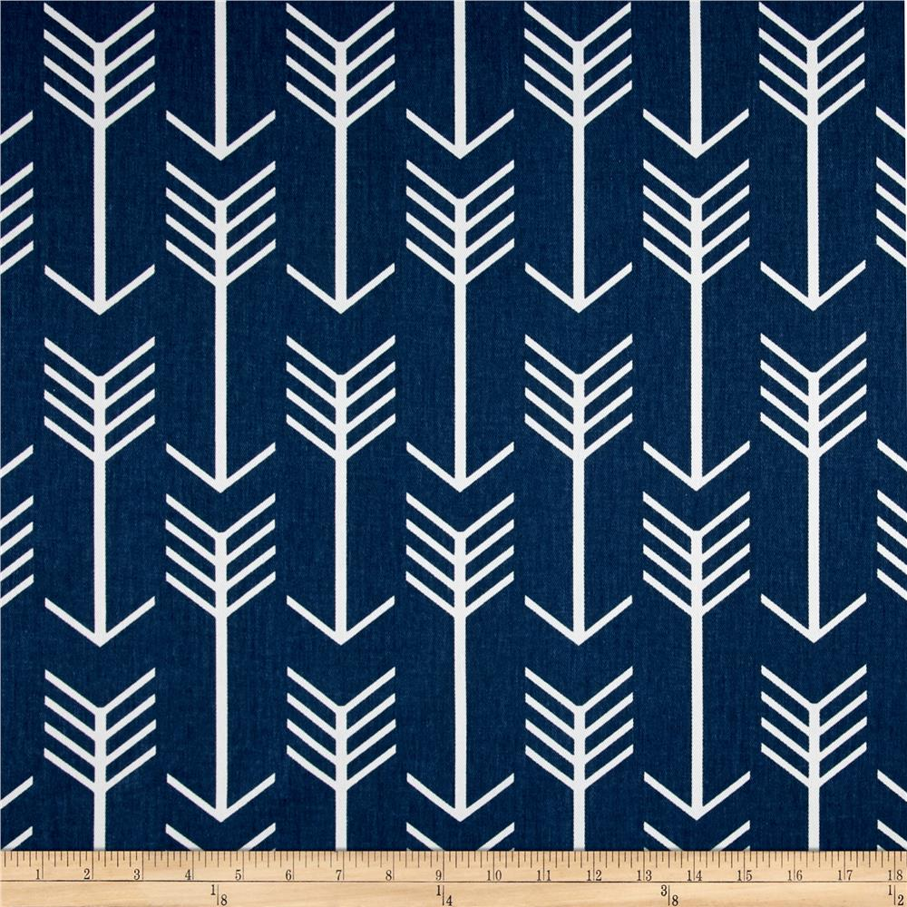 Discount outdoor fabric by the yard - Premier Prints Arrow Twill Premier Navy White Discount Designer Fabric Fabric Com