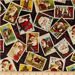 Dear Santa Stamps Toss Black