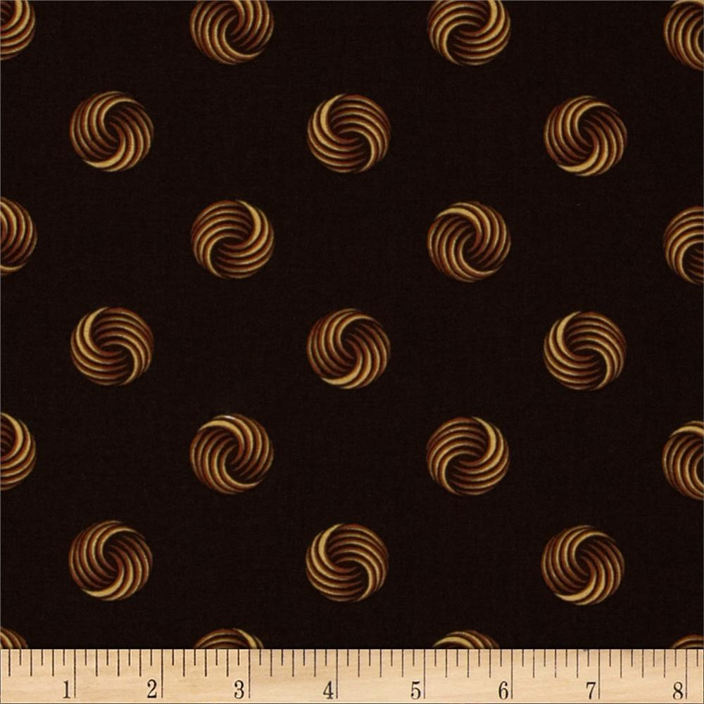 Retro Geo Circles Brown