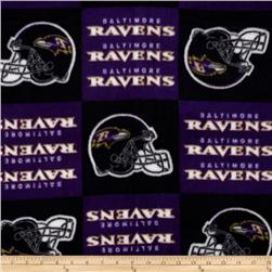 NFL Fleece Baltimore Ravens Squares Black/Purple
