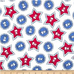 Peanuts Hugs for Heroes Snoopy Stars and Circles White