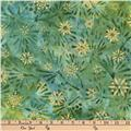Kaufman Batiks Metallic Northwood Leaf Spray Holly