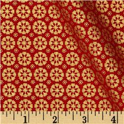 Ornamental Splendor Metallic Snowflake Splendor Red