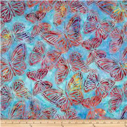 Artisan Batiks Wildlife Sanctuary Butterflies Bright