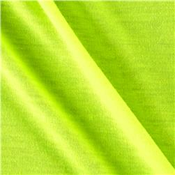 Polyester Jersey Knit Solid Neon Yellow
