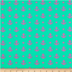St. Maarten Swimwear Knit Anchors Green/Pink
