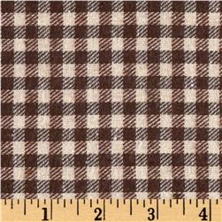Yarn Dyed Flannel Mini Plaid Brown/Ivory
