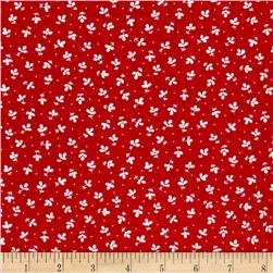 Penny Rose Church Ladies Apron Leaves Red