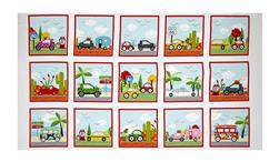 "Are We There Yet 24"" Cars/Campers Panel Multi"